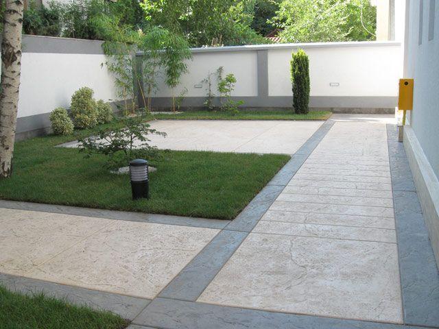Baldosas de exterior de hormig n stamped concrete by ideal for Hormigon encerado sobre suelo de baldosas