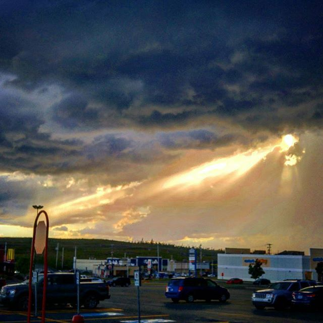 From @dl902 - The sun is always shining even on a bad day! Crazy sun beams through the clouds! #halifax #yhz #novascotia #canada