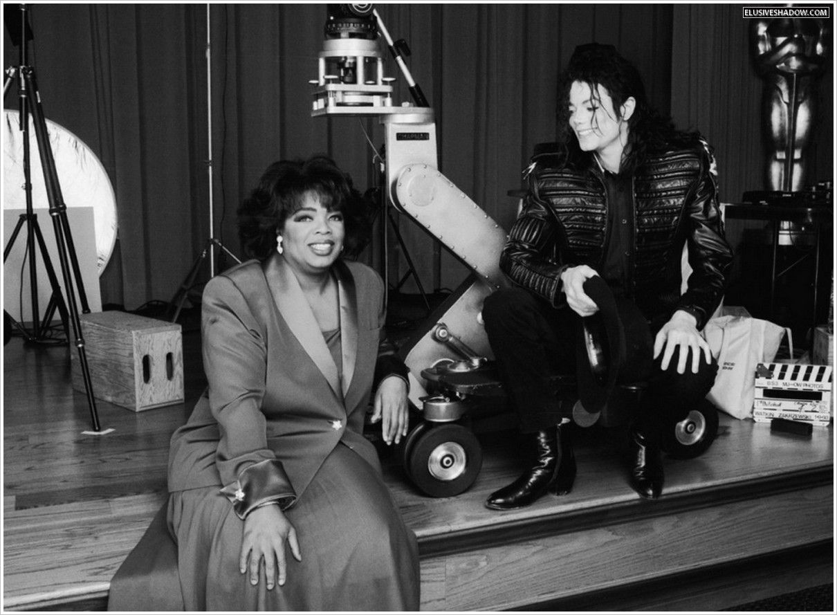 MJ and famous talk show host Oprah Winfrey during the