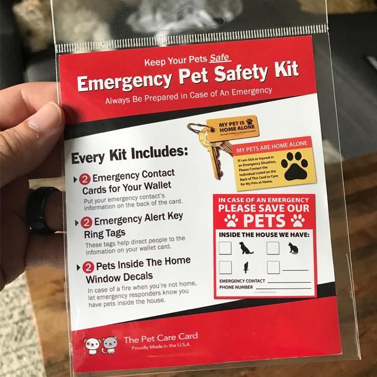 Emergency Pet Safety Kit Pet Safety Safety Kit Pet Insurance Cost