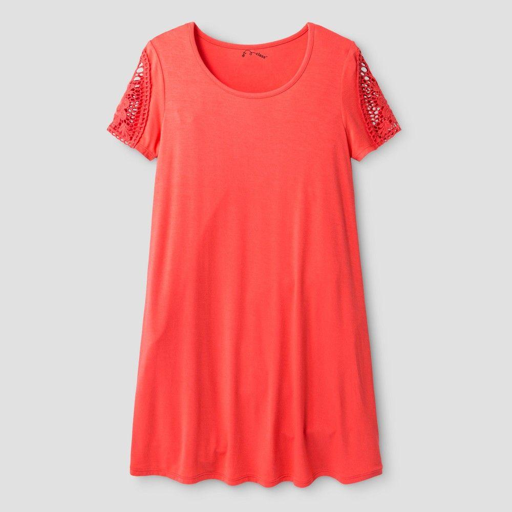 Girlsu knit dress art class coral xs girlus size xs pink
