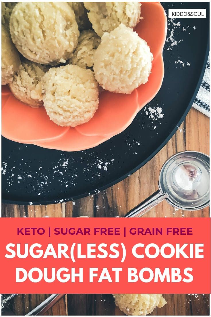 Sugar Cookie Dough Fat Bombs These cookie dough fat bombs taste just like sugar cookie dough.  They are super quick and easy to make - a staple for anyone eating a LCHF or keto diet!