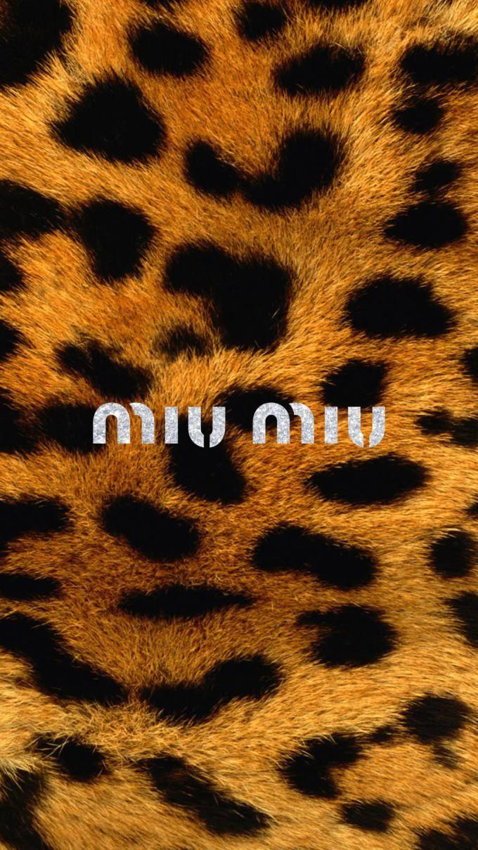 ミウミウ ロゴ ヒョウ柄 Leopard Print Wallpaper Animal Print Wallpaper Nike Art