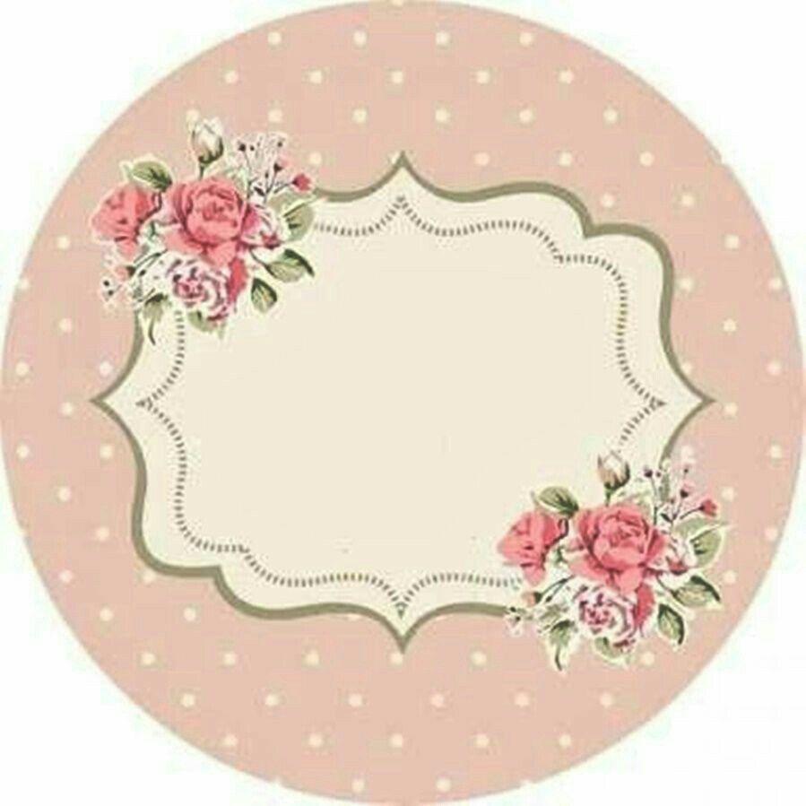 Pin De Monica Dorado En Tarjeta Flor Etiquetas Redondas