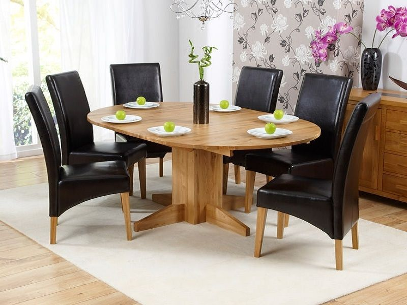 Round Oak Extendable Dining Table And Chairs Http Lanewstalk