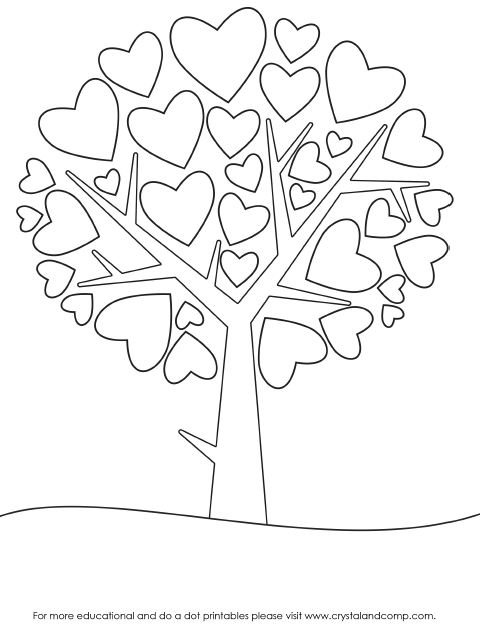 Valentine Heart Preschool Do A Dot Printables Heart Coloring Pages Preschool Valentines Coloring Pages
