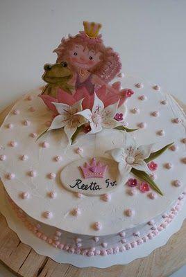 What a cute little girl's fairy tale birthday cake!