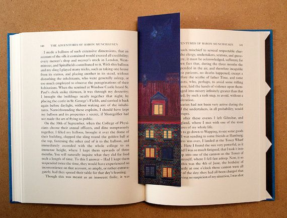 Bedtime Reading Bookmark by StAinolopa on Etsy