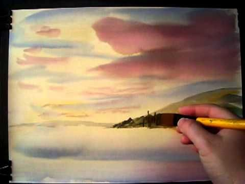 Painting with Watercolours featuring the Isle of Arran in Scotland #2