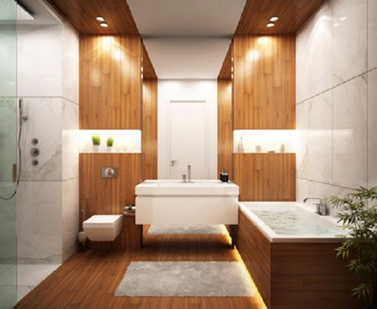 Faux plafond salle de bain moderne faux plafond combien - Plafond bois salle de bain ...