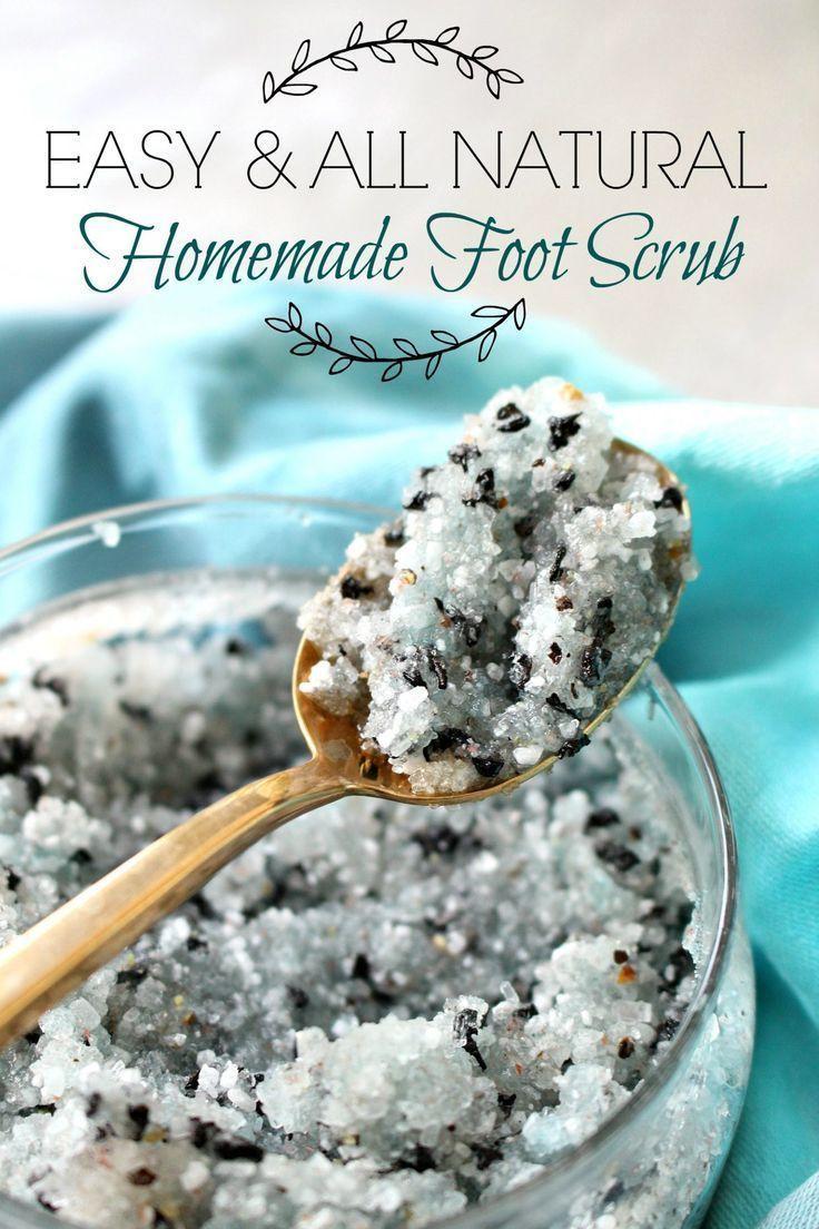 Easy all natural diy foot scrub diy foot scrub
