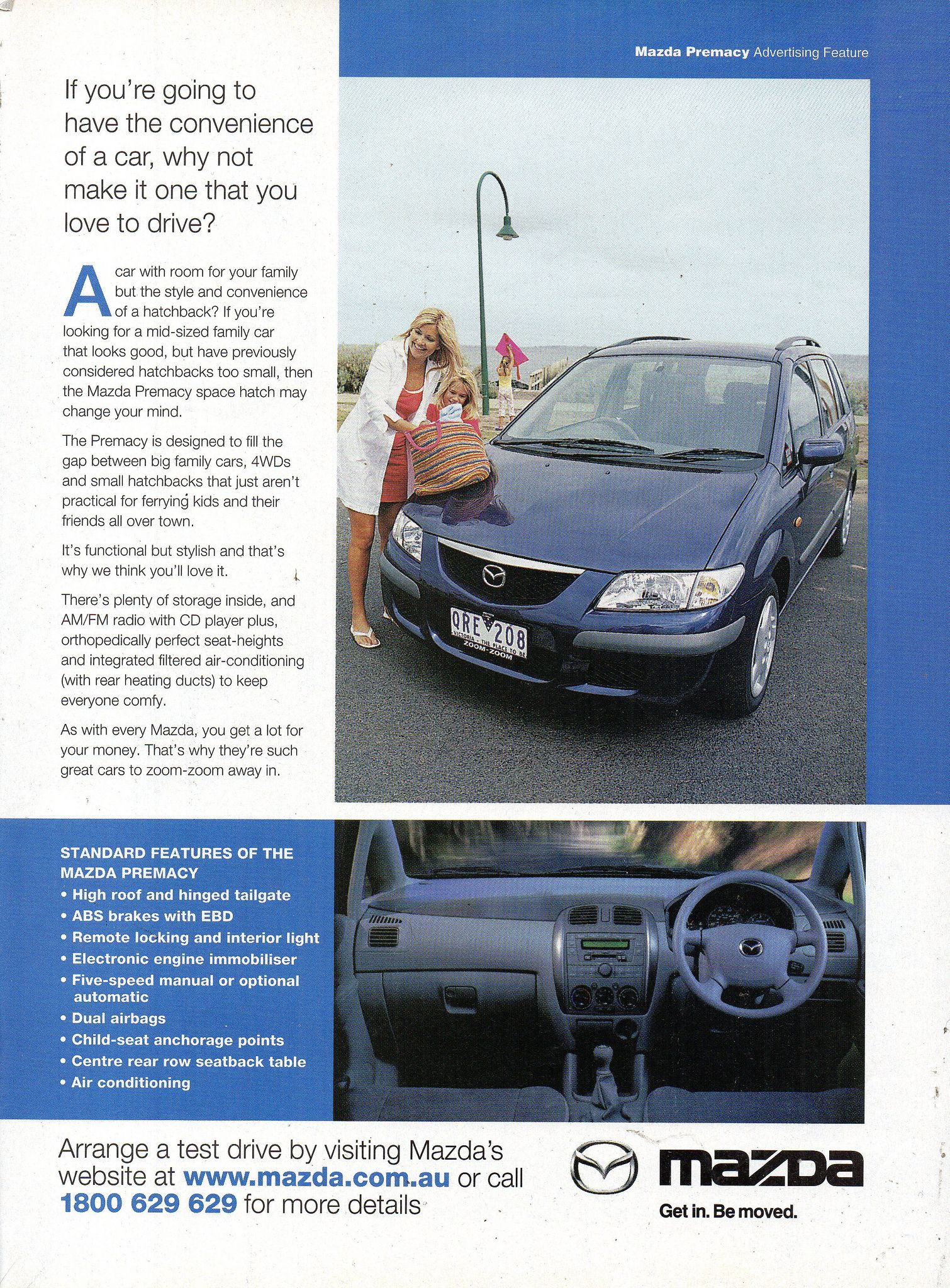 2001 Mazda Premacy Compact Mpv Page 2 Aussie Original Magazine Advertisement Automobile Advertising Mazda Car Advertising
