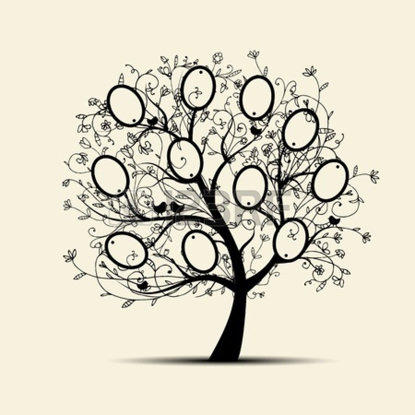 Family Tree Design Ideas find this pin and more on decoration ideas family tree Family Tree Design Insert Your Photos Into Frames Stock Vector 11263982