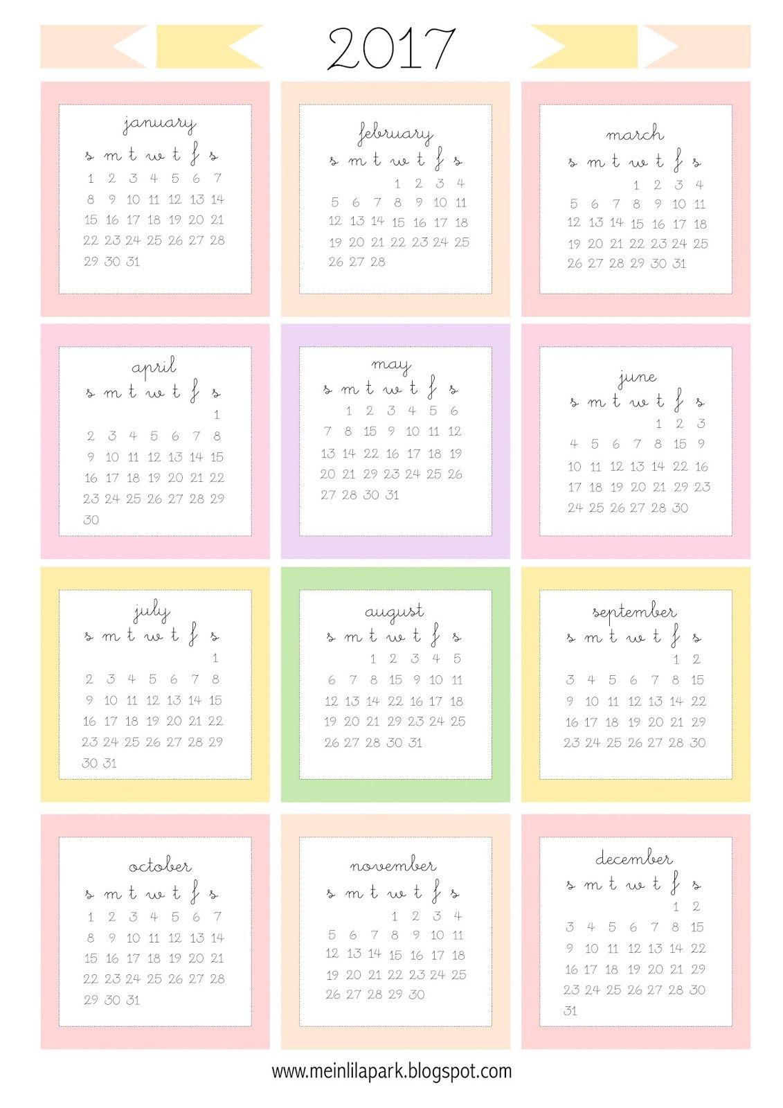 Free Printable Mini Calendar Cards