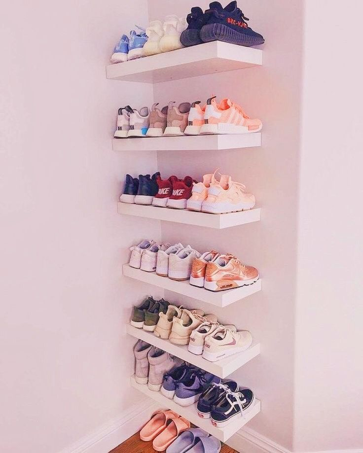 Pin by on shoez shoe rack style my room