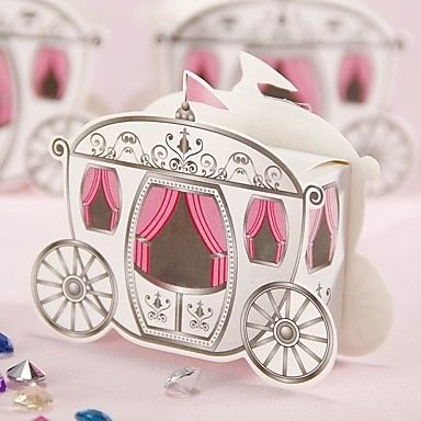 12 Piece/Set Favor Holder - Card Paper Favor Boxes Carriage Candy Box Non-personalised 5054072 2017 – $4.99