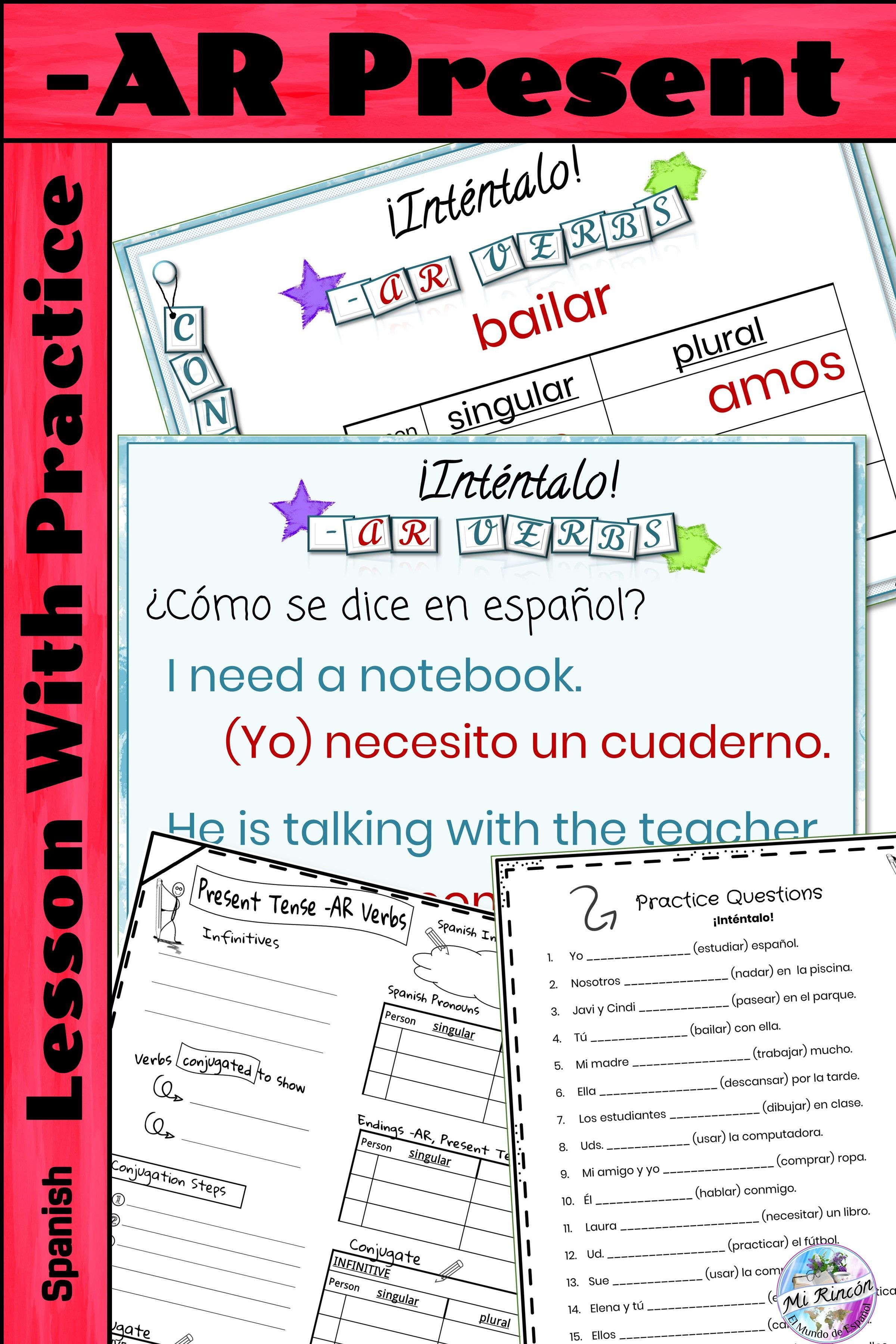 How To Conjugate Ar Verbs In The Present Tense In Spanish This Powerpoint Steps Students Through The Unfami Verbs Lessons Spanish Verbs Presents For Teachers [ 3600 x 2400 Pixel ]