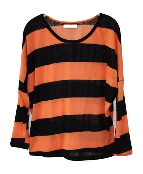 Slouch Sweater with Stripes