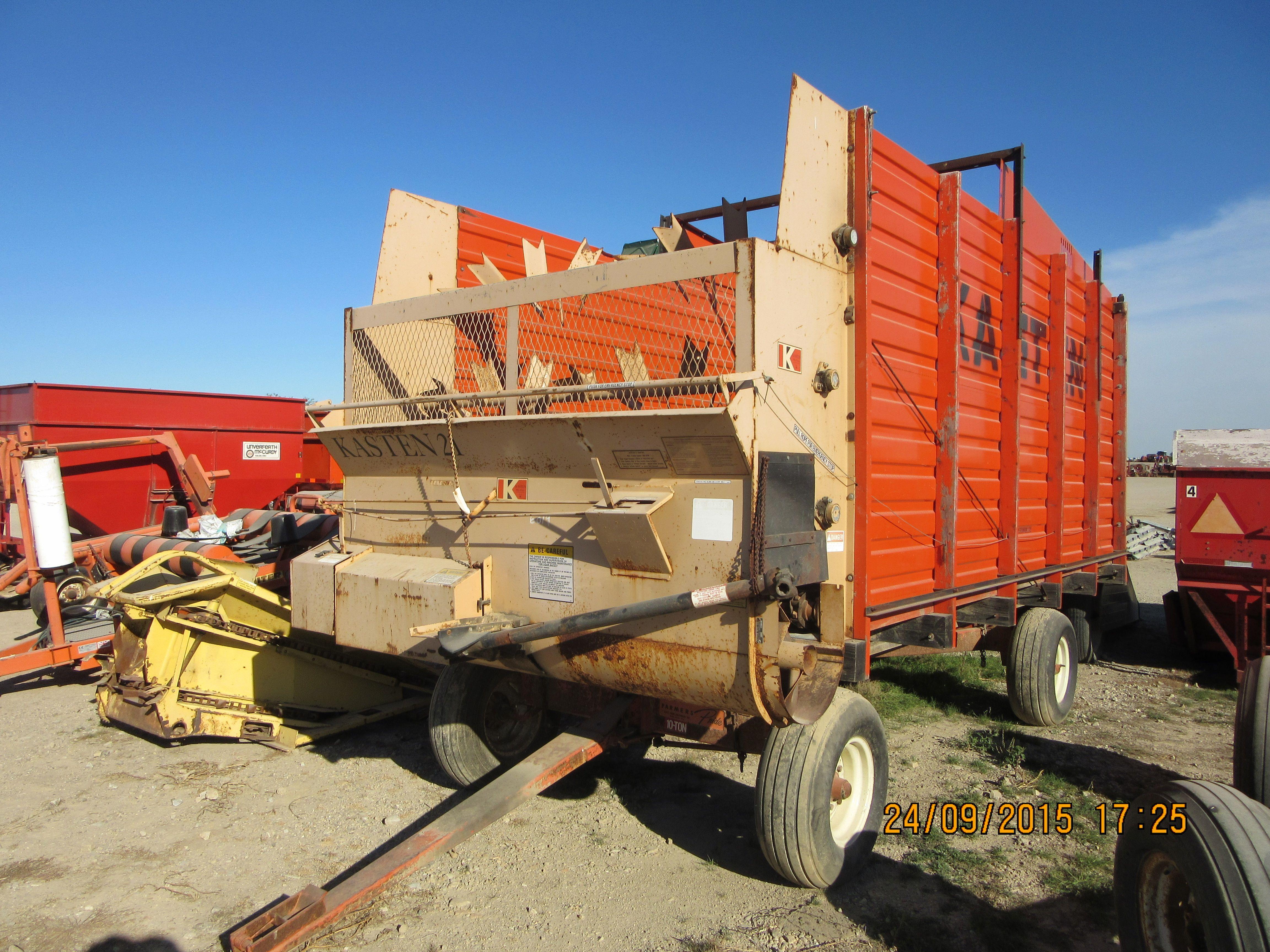 Orange Kasten Forage Wagon Farm Equipment Farm Machinery Vintage Farm