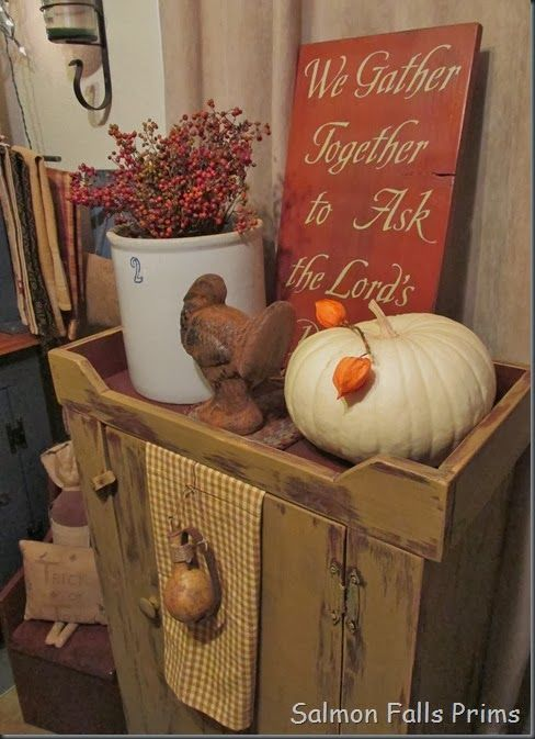 Salmon Falls Prims Harvest Happenings Fall Thanksgiving Autumn Display Autumn Decorating