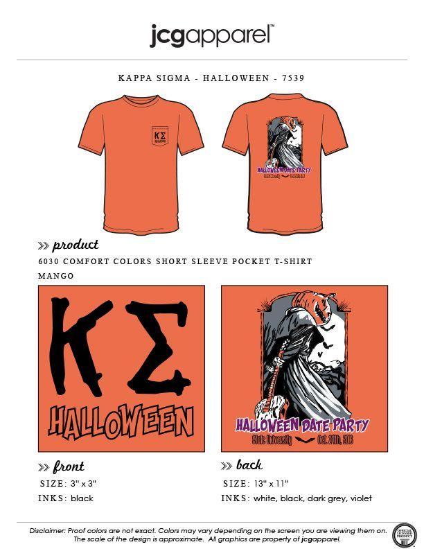 a151676f6 JCG Apparel : Custom Printed Apparel : Kappa Sigma Halloween T-Shirt  #kappasigma #kappasig #halloween #pumpkin #jackolantern #guitar #punkinhead