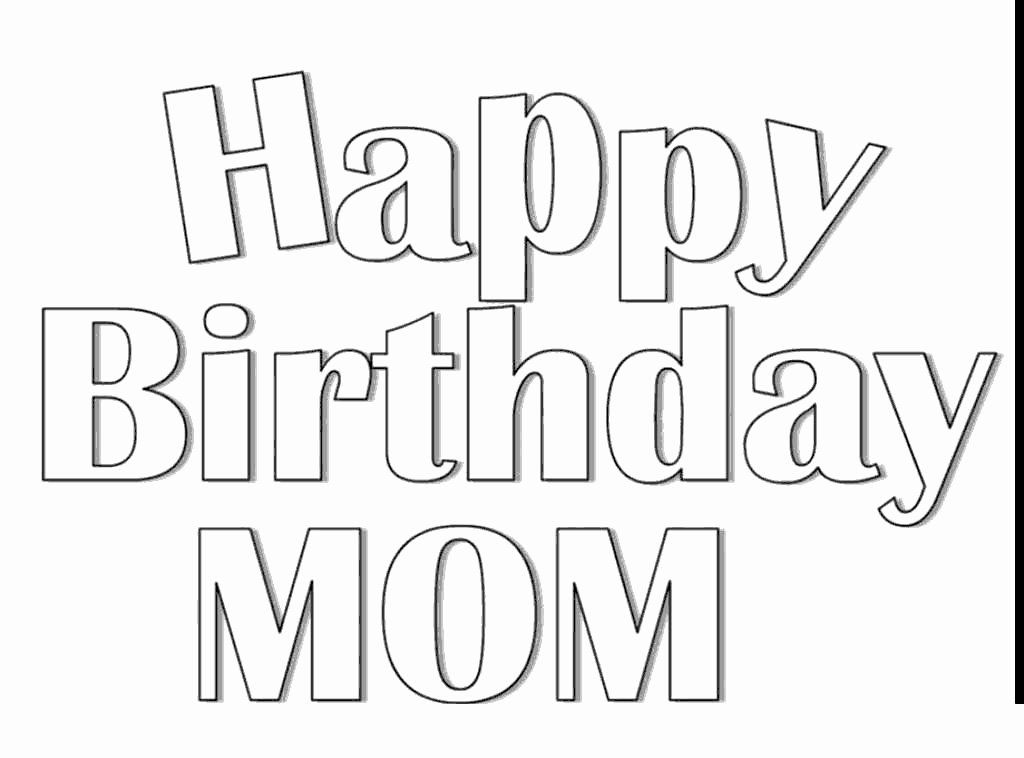 28 Happy Birthday Mom Coloring Page in 2020 Happy