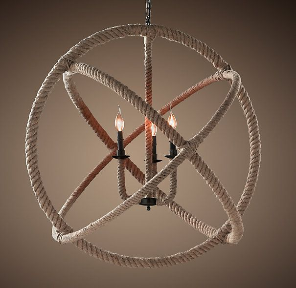 Rope Planetarium Chandelier Large 38 Dia 6 Chain 795 Saw On Made