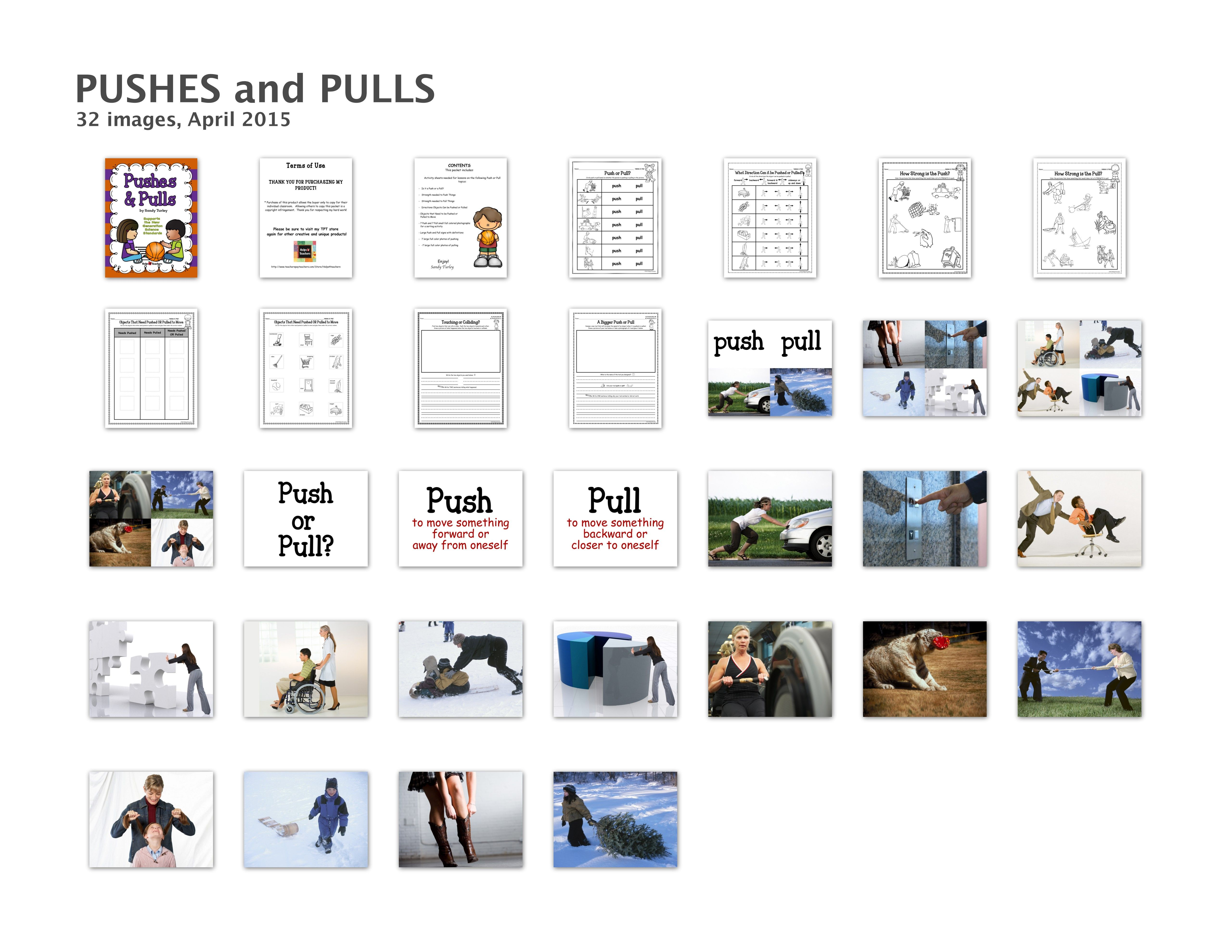 Ngss Kindergarten Ps2 1 Push And Pull By Helps4teachers Teachers Pay Teachers Ngss Kindergarten Ngss Pushes And Pulls [ 3956 x 5120 Pixel ]