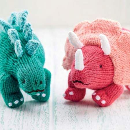 Cute Dinosaur Toys | Free Knitting Patterns | Let's Knit Magazine