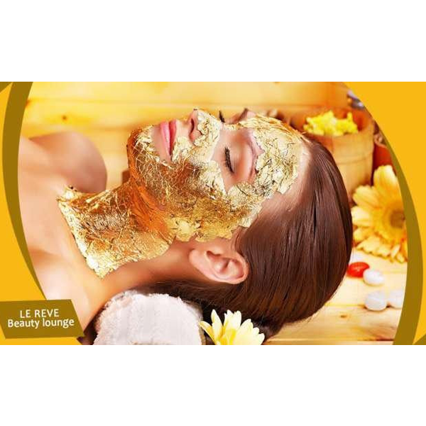 86% OFF, Rs 999 only for Gold Facial + Gold Mask + Skin Polisher + Whitening Manicure + Whitening Pedicure + Hand and Feet Massage + Neck and Shoulder Massage + Threading (Eye Brow + Upper Lips) at Le-Reve Beauty Salon Gulberg Lahore.