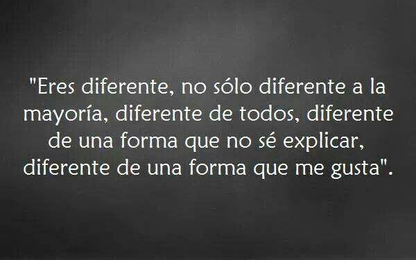 Diferente.