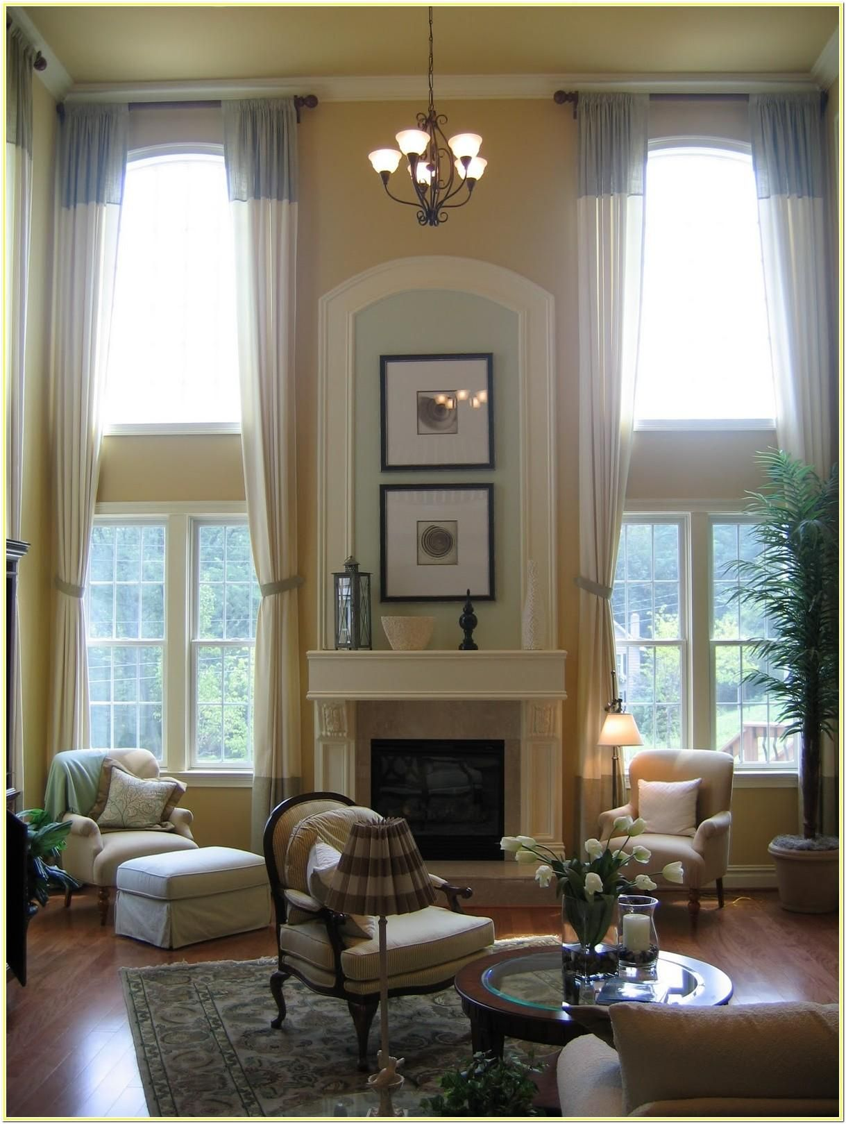 12 Story Living Room Design Ideas   Window treatments living room ...