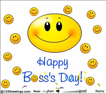 Happy boss day wishes happy bosss day clip art work pinterest bosss day cards free bosss day wishes greeting cards 123 greetings m4hsunfo Image collections