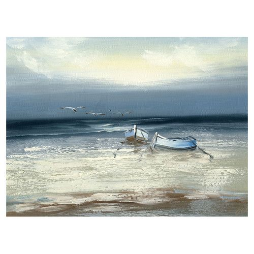 Trademark Fine Art Low Tide by Rio Painting Print on Canvas