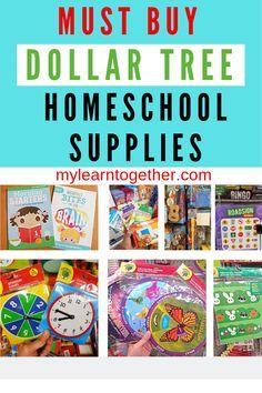 Must Buy Dollar Tree Homeschool Supplies - My Learn Together