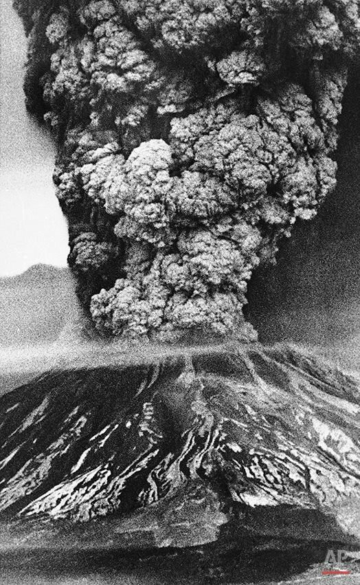 Mt. ST. HELENS, Washington. Volcano Eruption in 1980.