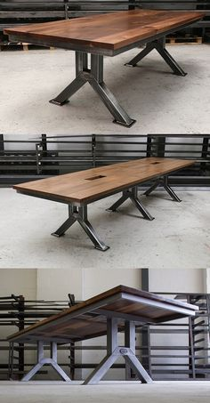 The Engineering Table | Industrial Style Dining Table | Steel Vintage