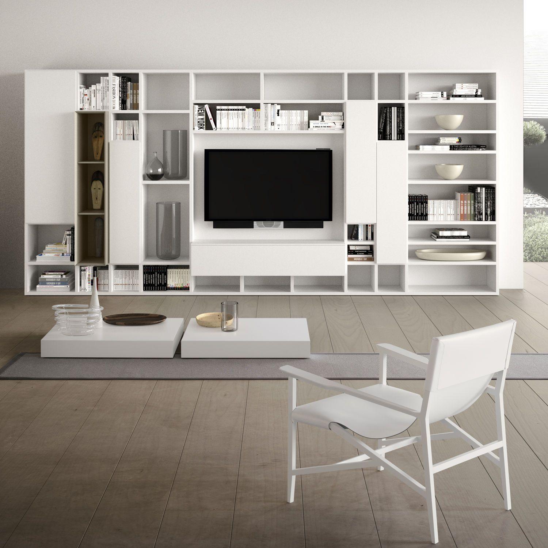 Mueble TV moderno / de madera SPAZIOTECA MOD.SP014 PIANCA | ideas ...