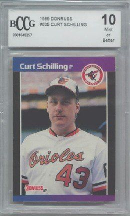 1989 Donruss Curt Schilling Rookie Card Graded Bccg 10 By