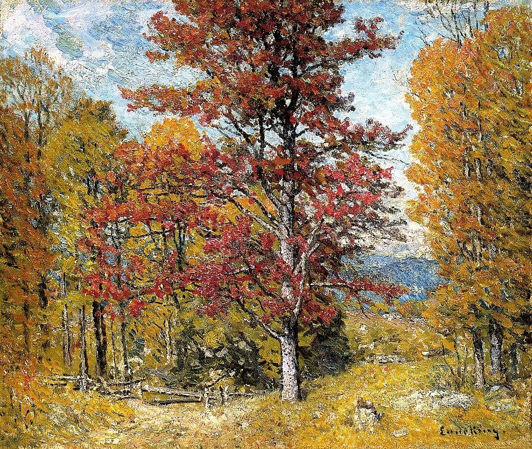 """Early Autumn,"" John Joseph Enneking, il on canvas, 20.25 x 24"", private collection."