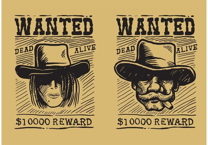 Wanted Old Poster  Escola    Vector Art Free Vector