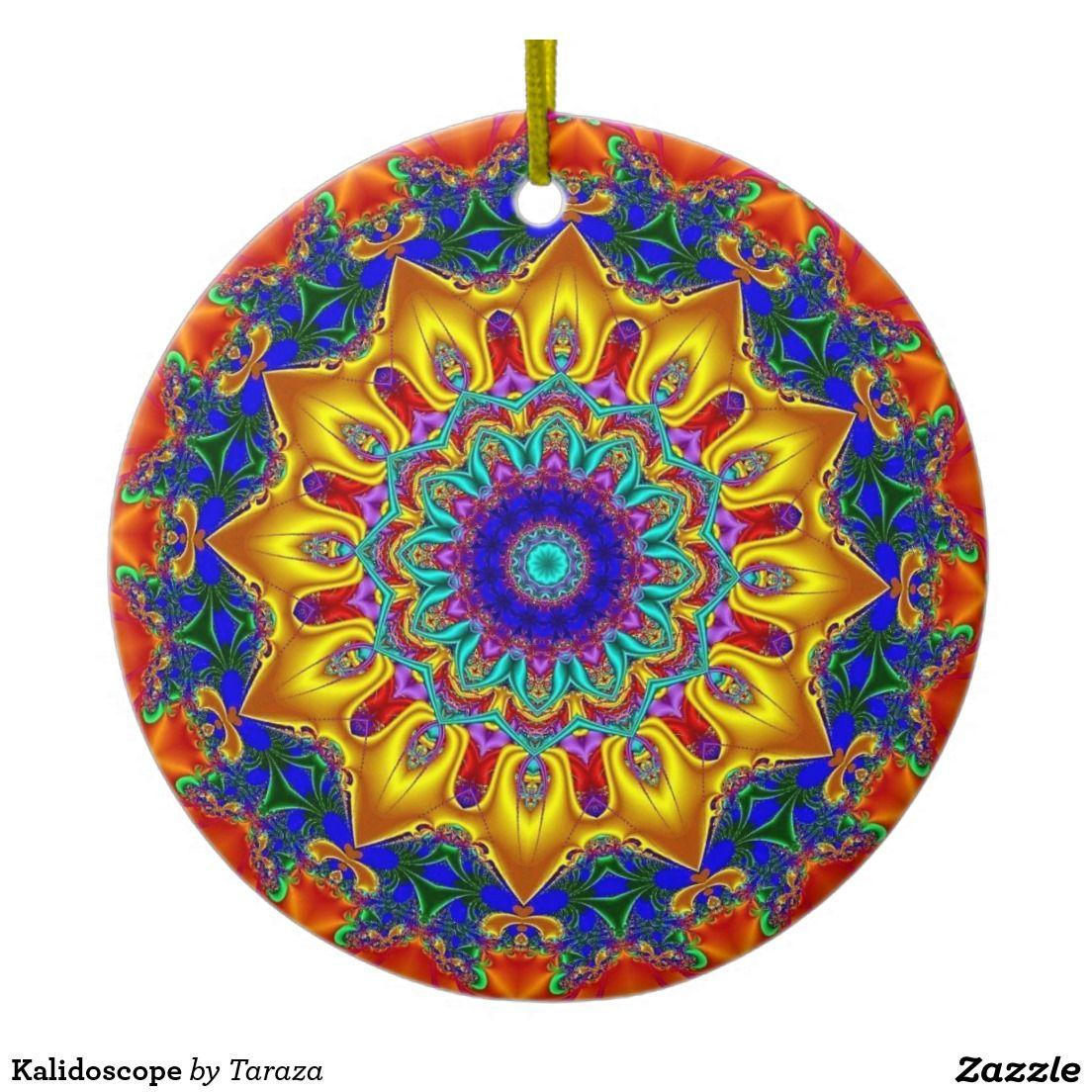 Photo of Kalidoscope Ceramic Ornament | Zazzle.com