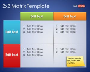 Free 2x2 matrix template for powerpoint is a free powerpoint free 2x2 matrix template for powerpoint is a free powerpoint template and ppt matrix design toneelgroepblik Images