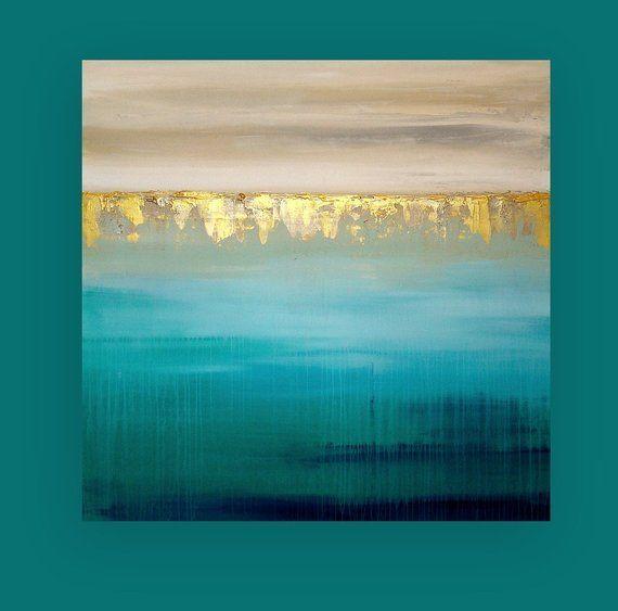 Glitter Art, Blush, Acrylic Painting, Original Abstract, Shabby Chic, Paintings on Canvas Ora Birenbaum Titled: Sparkly Blush 24x36x1.5