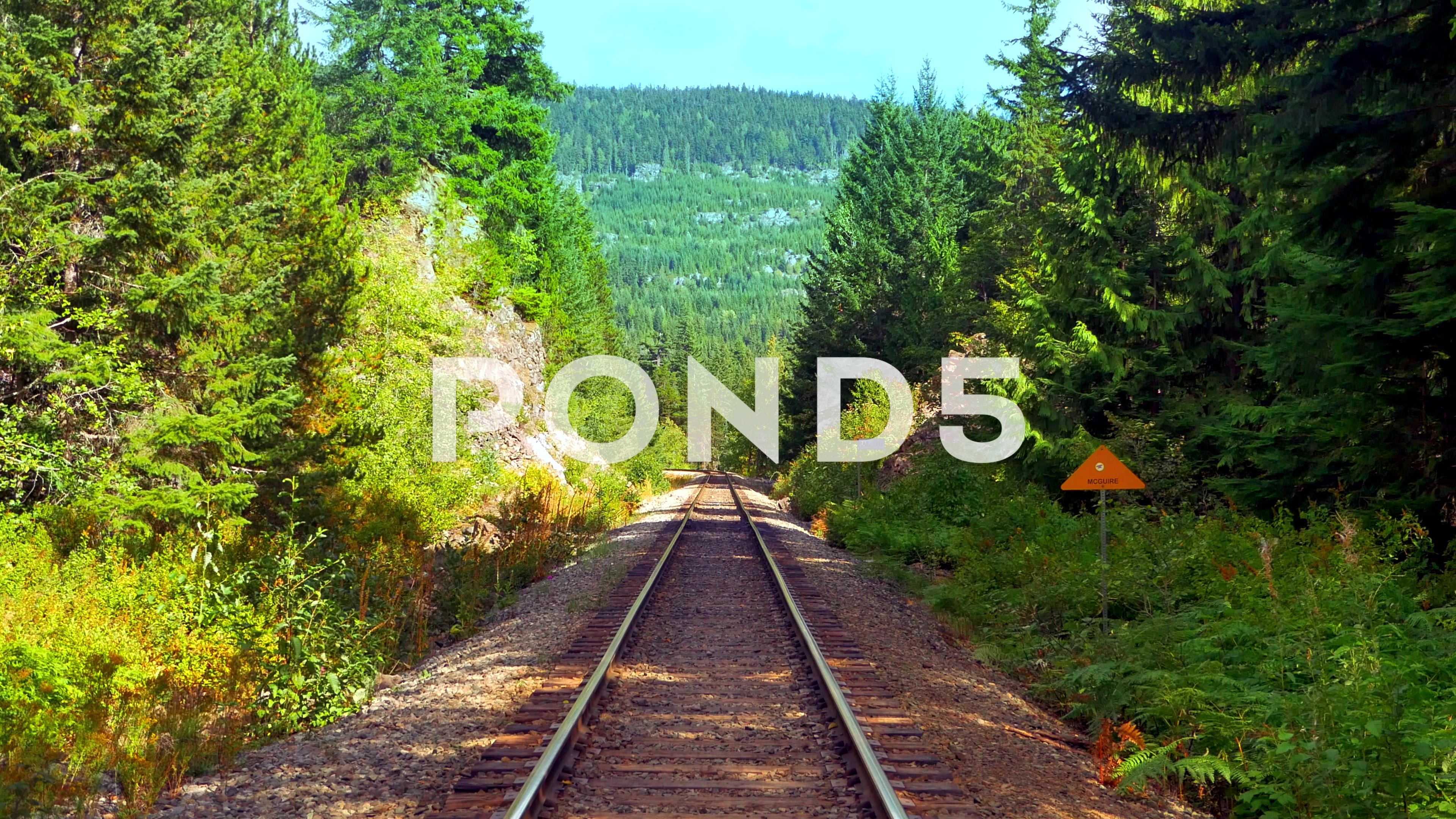 4k Railroad Landscape Perspective Mountains And Nature Stock Footage Perspective Landscape Railroad Mountains Landscape Nature Railroad