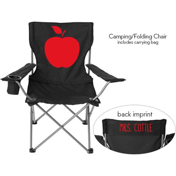 3ce9f776f78 Teacher Gift Beach Camping Sports Folding Chair Apple Solid or ...