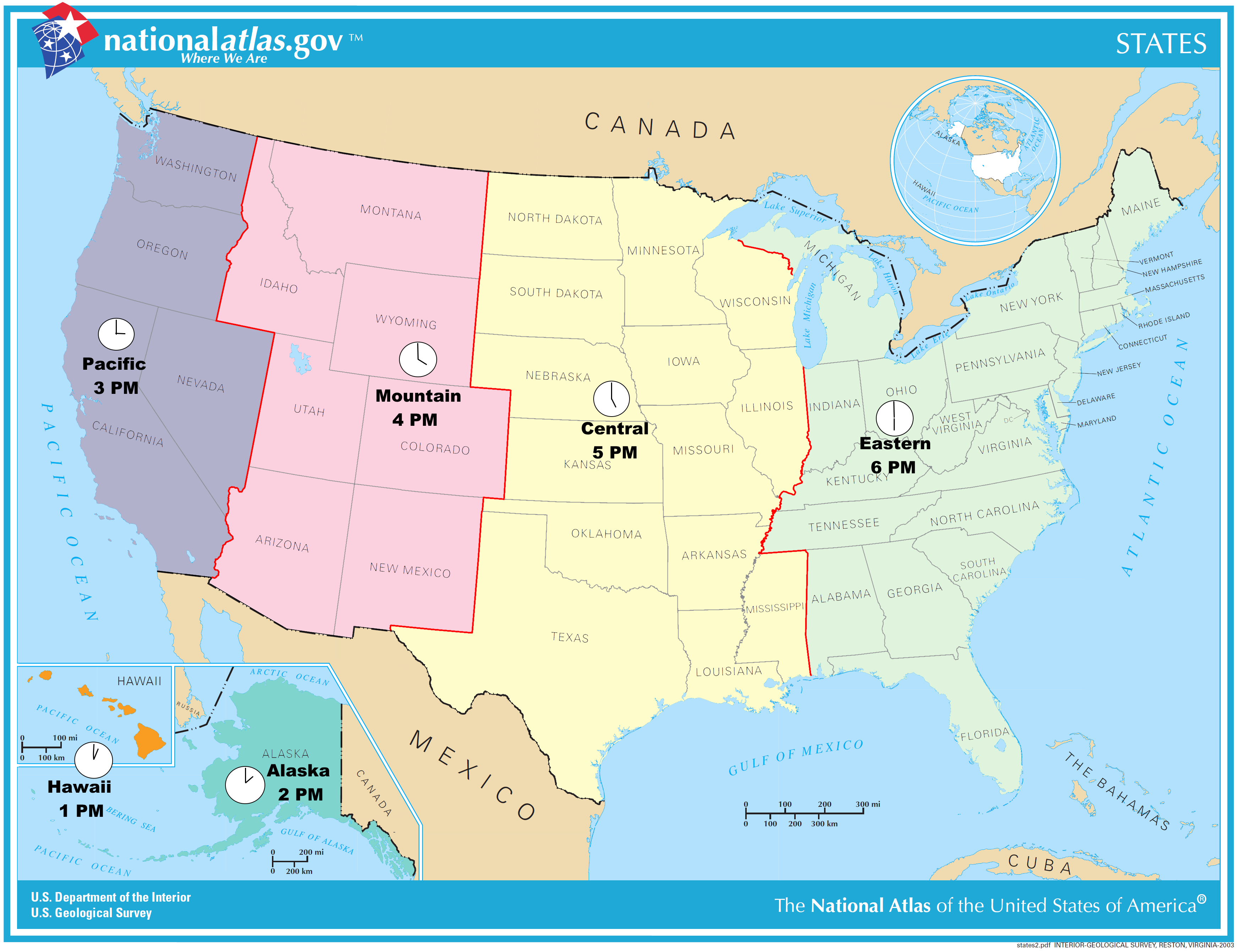 Proposed Simplified Time Zone Map Of The United States