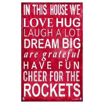 Fan Creations NBA In This House Sign - B0725-ROCKETS