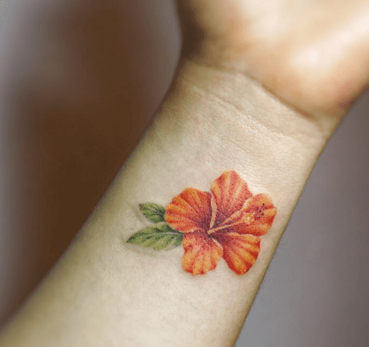 Hawaiian Flower Wrist Tattoo: Flower Wrist Tattoos, Hibiscus Tattoo, Small
