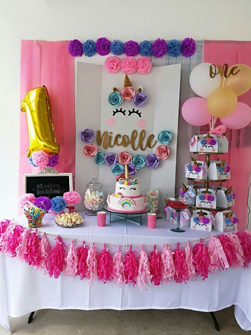 Decoracion unicornio 1 cumplebebenicolle cumple for Paginas de ideas de decoracion
